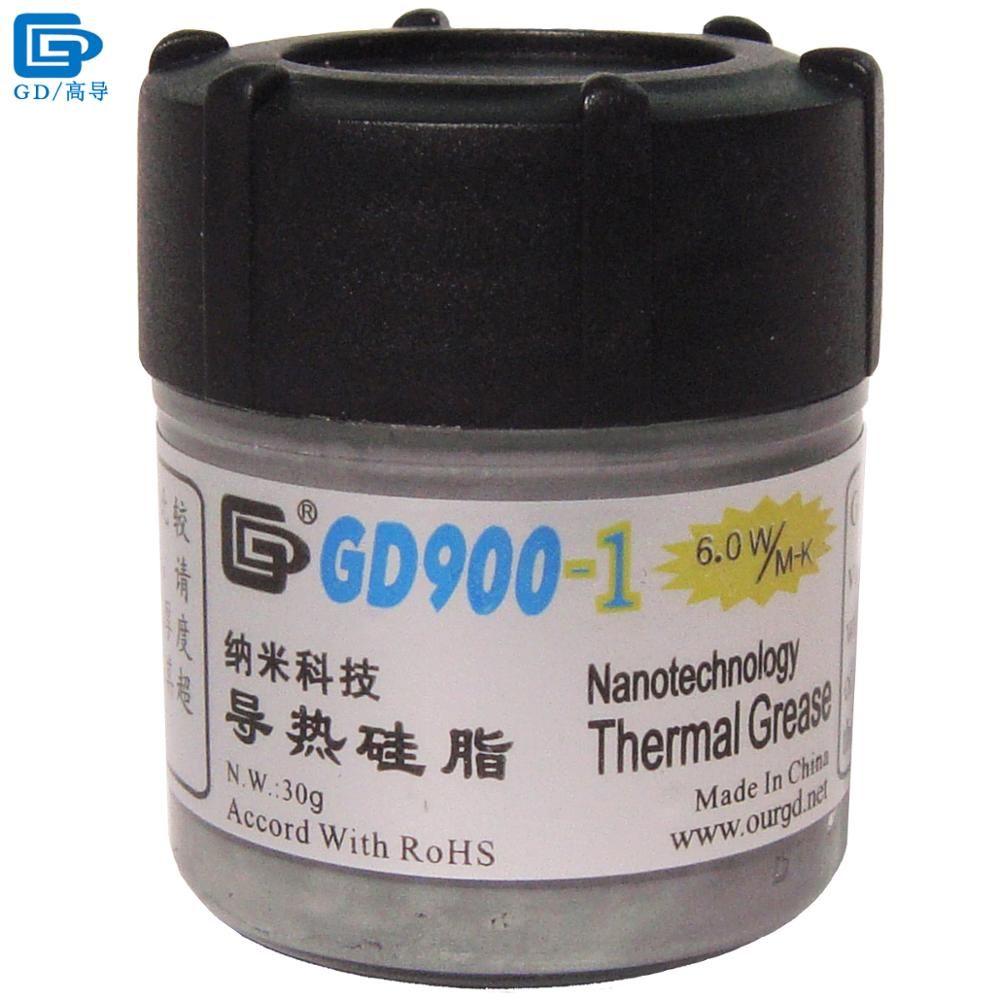 GD Marque Thermique Pâte de Graisse Silicone GD900-1 Dissipateur de Chaleur Composé contenant de L'argent Gris Net Poids 30 Grammes Pour CPU Cooler CN30