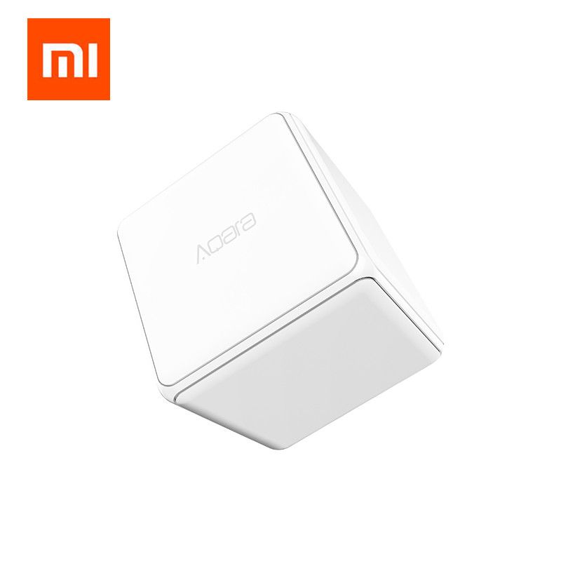 Original Xiaomi Mi <font><b>Cube</b></font> Controller Zigbee Version Controlled by Six Actions with Phone App for Smart Home Device TV Smart Socket