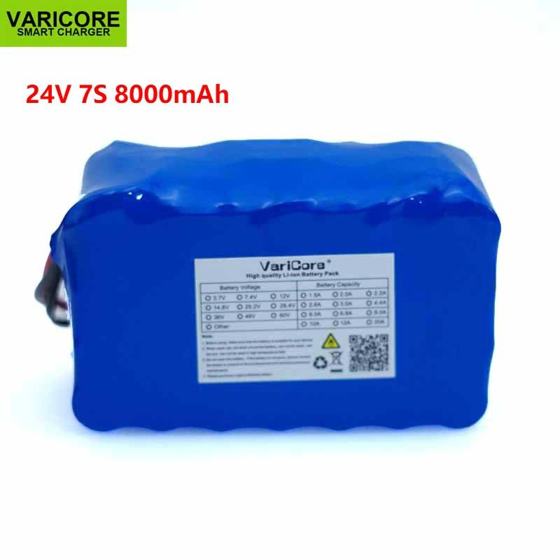 24V 8Ah 7S4P 18650 Battery li-ion battery pack 29.4v 8000mAh electric bicycle moped /electric with BMS Circuit protection