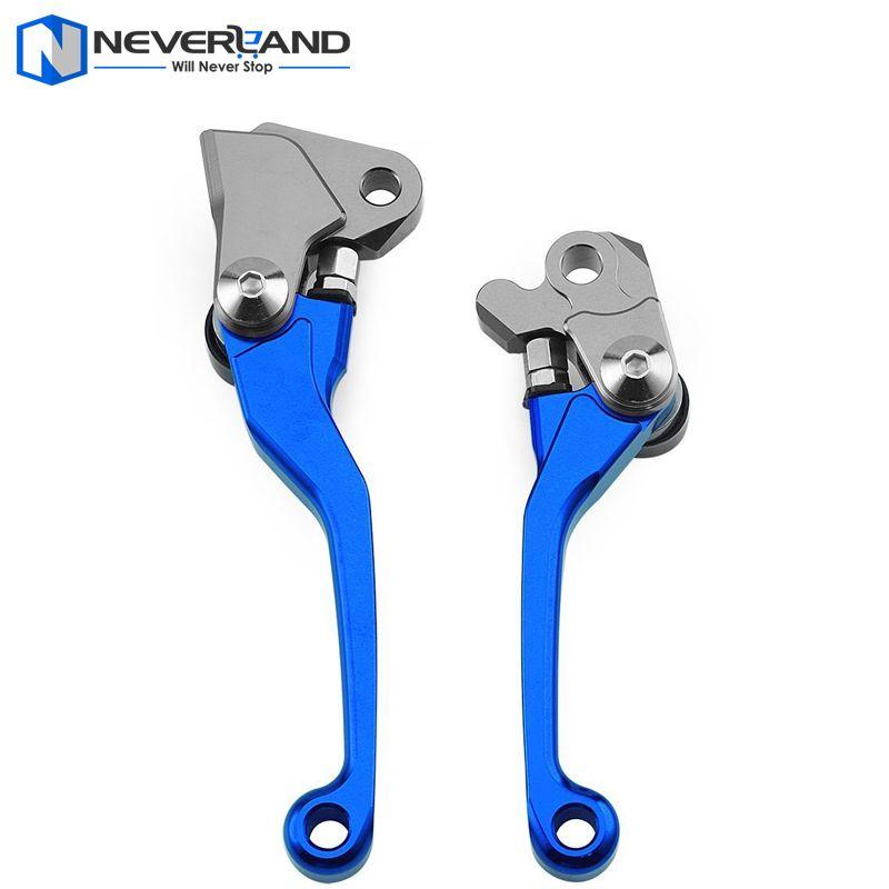 Blue CNC Pivot Brake Clutch Levers for Yamaha YZ 125 250 250F 426F 450F Kawasaki KX 125 250 250F 450F Suzuki RMZ250