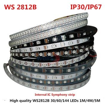 1/4/5 Meter WS2812B Full Color Symphony 30 60 144 LED Pixel/Meter SMD 5050 Built-in IC Programmable Addressable 5V Strip lights