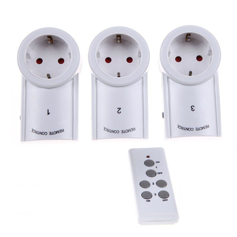 Alloyseed EU/us 3 упак. Беспроводной Дистанционное управление Мощность Outlet выключатель света розетка Умный дом удаленный коммутатор розетка
