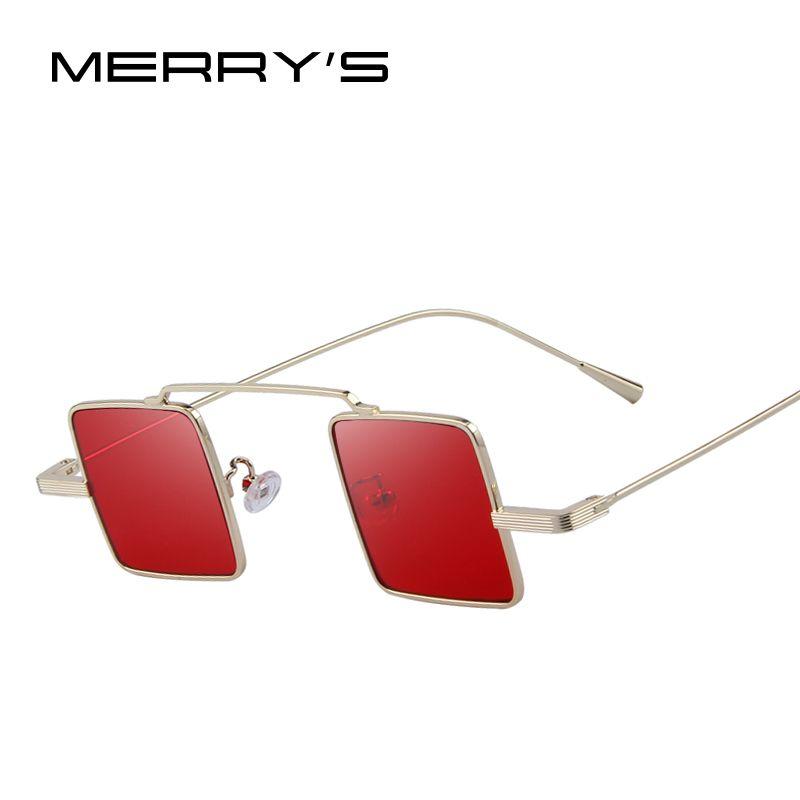 MERRYS Vintage Femmes/Hommes Steampunk lunettes de Soleil Carrées S8084