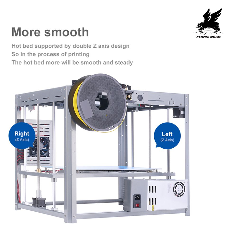 Shipping from Germany Flyingbear Tornado large 3d printer DIY Full metal Linear railHigh Quality Precision double extruder