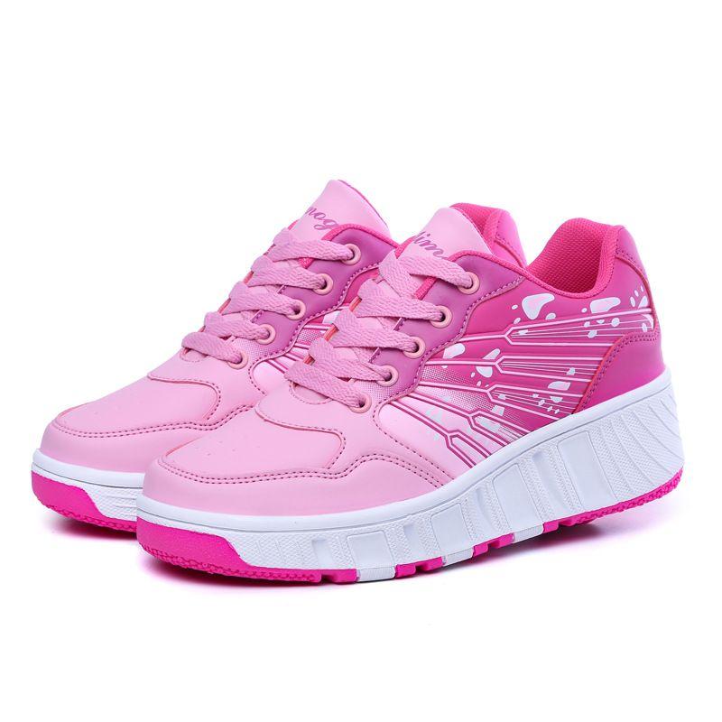 Nuevos Niños Zapatos Niños Patines Ruedas Zapatos de Deporte Zapatillas de deporte de Moda Niños y Niñas Balísticos con Ruedas