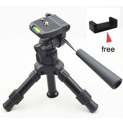 Lightweight Camera Compact Aluminum Desktop Mini Tripod with Pan Head for Canon Nikon DSLR Cameras