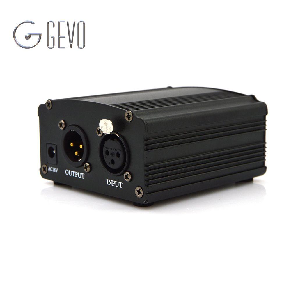 48V DC Phantom Power Supply Genuine Professional For Studio Recording Condenser Microphone Computer US Plug Free Shipping