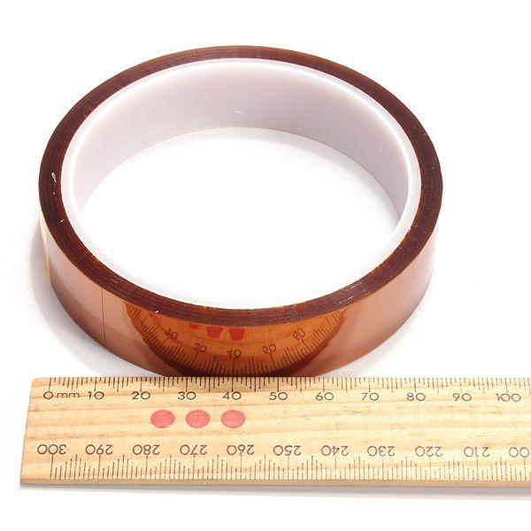20mm 33 mt 100ft einseitig selbstklebende Klebeband Hochtemperatur Heat Resistant Polyimid Für Elektronische industrie