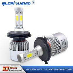 Светодиодный H7 H4 H1 H3 H8 H11 H13 9005 9006 9007 881 светодиодный фары 6500 К 72 Вт 8000LM автомобилей часть лампа авто свет