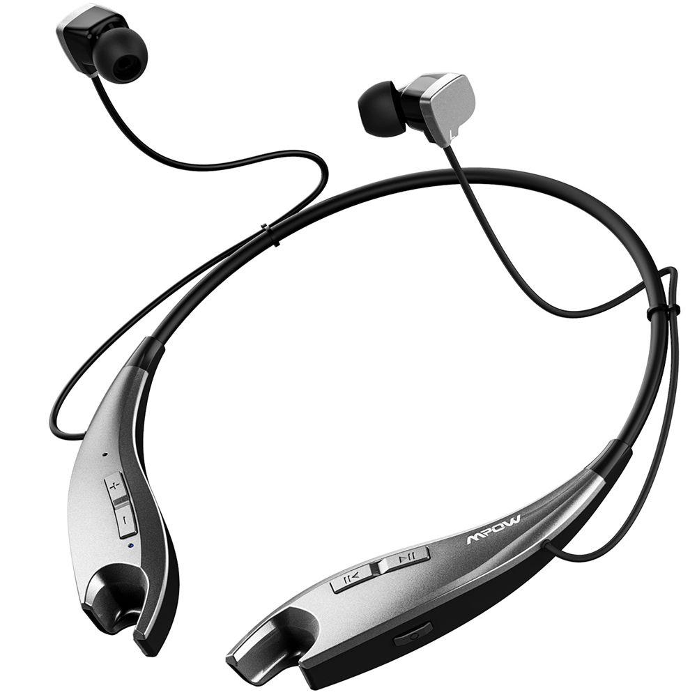 2017 NEW Mpow Jaws Wireless Bluetooth 4.1 Headphone Neck Halter Style Headset Earphone APTX Hands-free Calling for Smartphones