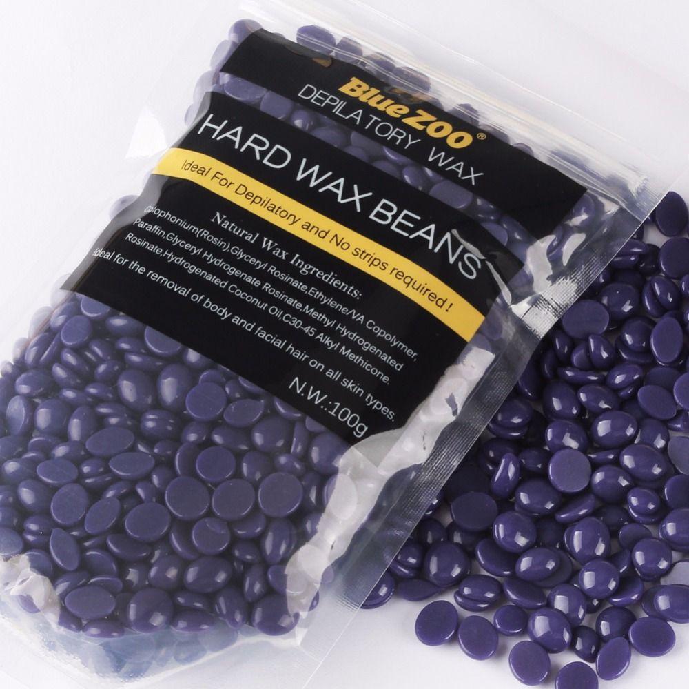 100g Purple Lavender Removal Cream Color No Strip Depilatory Hot Film Hard Brazilian Wax Pellet Waxing Bikini Hair Removal Bean