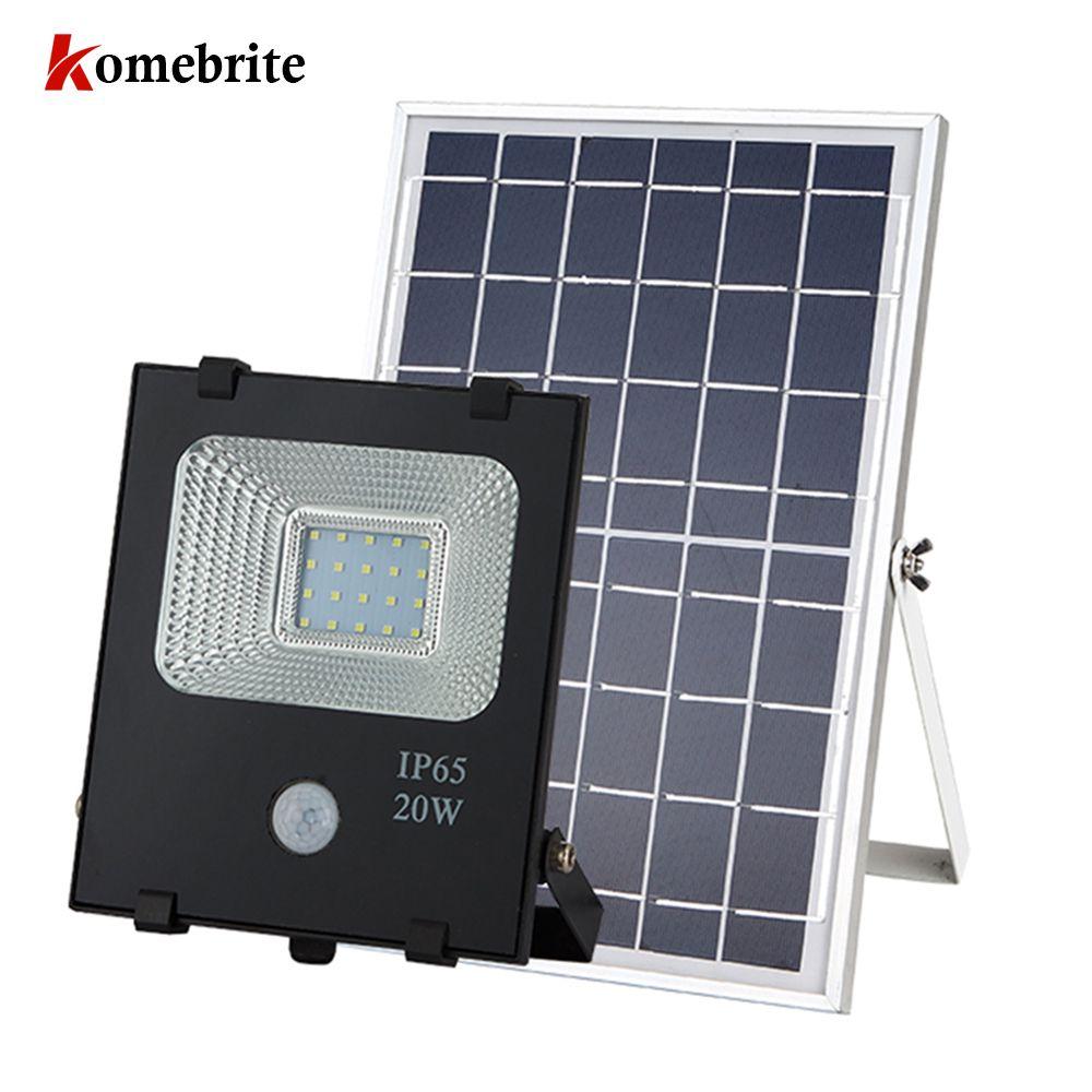 Outdoor Solar flood Light 10W/20W Multi-function Floodlighting Intelligent Waterproof Garden Camping Lawn Lamp