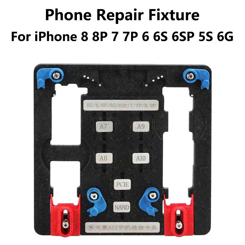 9 in 1 Logic Board Clamps Mobile Phone Repair Board PCB Holder For iPhone 8 8plus 7 6 6s Plus 5S For A7 A8 A9 A10 Chip Fixture