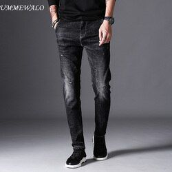 UMMEWALO Noir Skinny Jeans Hommes Hiver Automne Stretch Denim Jeans Homme Élastique Casual Slim Jean Pantalon Mâle Qualité Jeans Homme