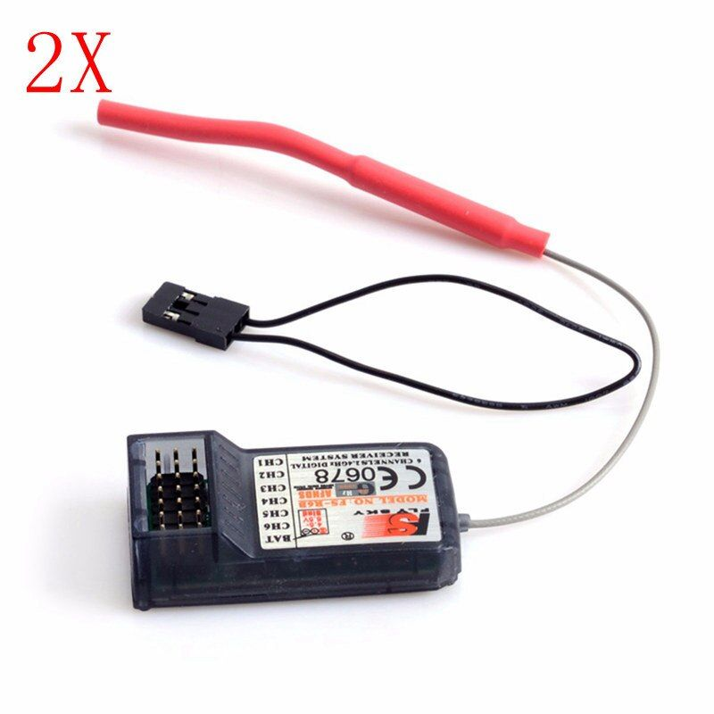 2Pcs FlySky FS-R6B 2.4Ghz 6CH AFHDS Receiver for fs i6 i10 T6 CT6B TH9x