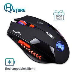Беспроводная оптическая игровая мышь Бесшумная usb перезаряжаемые мыши 2400 точек/дюйм встроенный аккумулятор для ПК ноутбук бесшумный