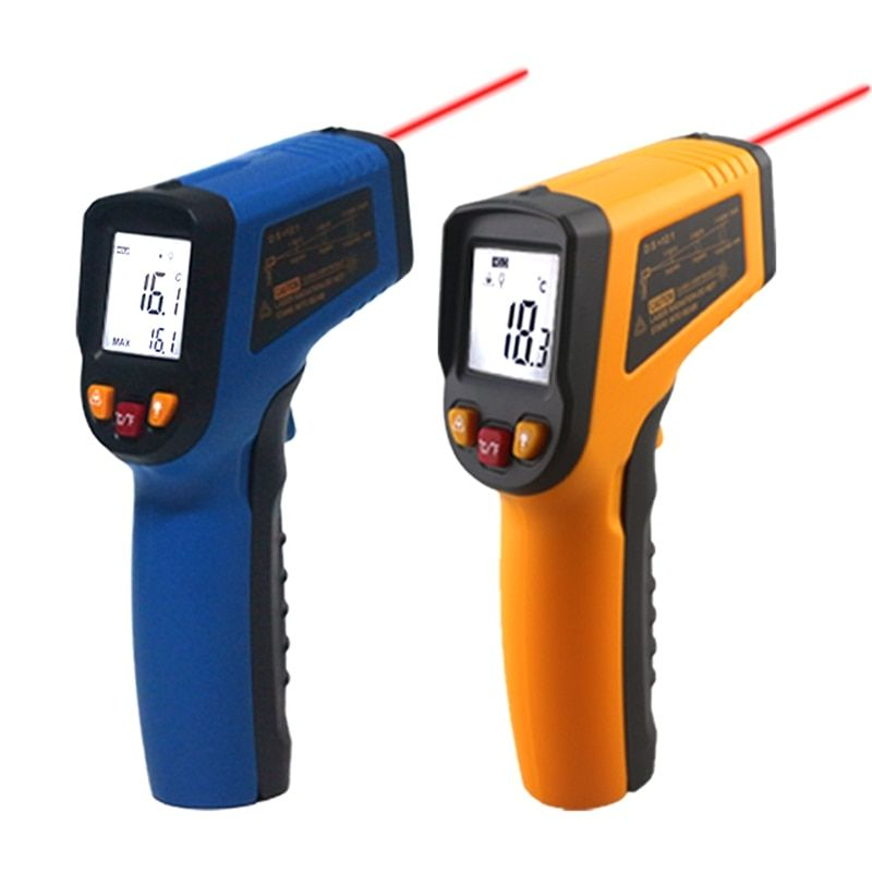 Handheld Non-contact IR Infrared Thermometer Digital LCD Laser Pyrometer Surface Temperature Meter Imager C F Backlight -50~600C