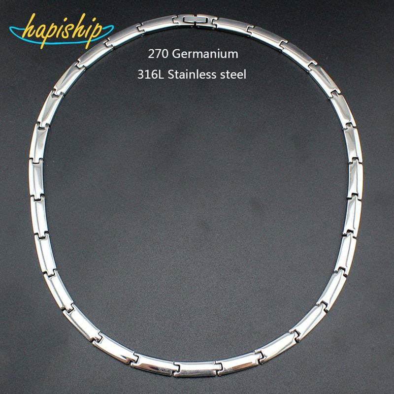 Hapiship 2017 New Men/Women's 270 Germanium Energy 316L Stainless Steel Therapy Power Necklace Birthday Husband Wife Gift TG4610