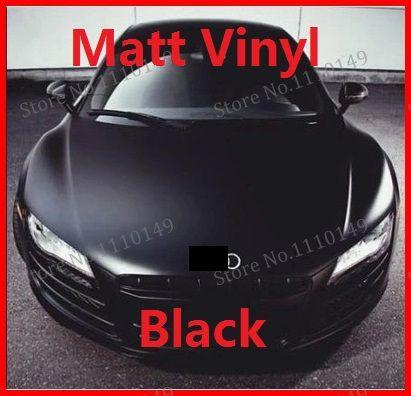 1 pc 1.52 m x 50 cm Noir Mat Film de Vinyle d'enveloppe de voiture de 59.84