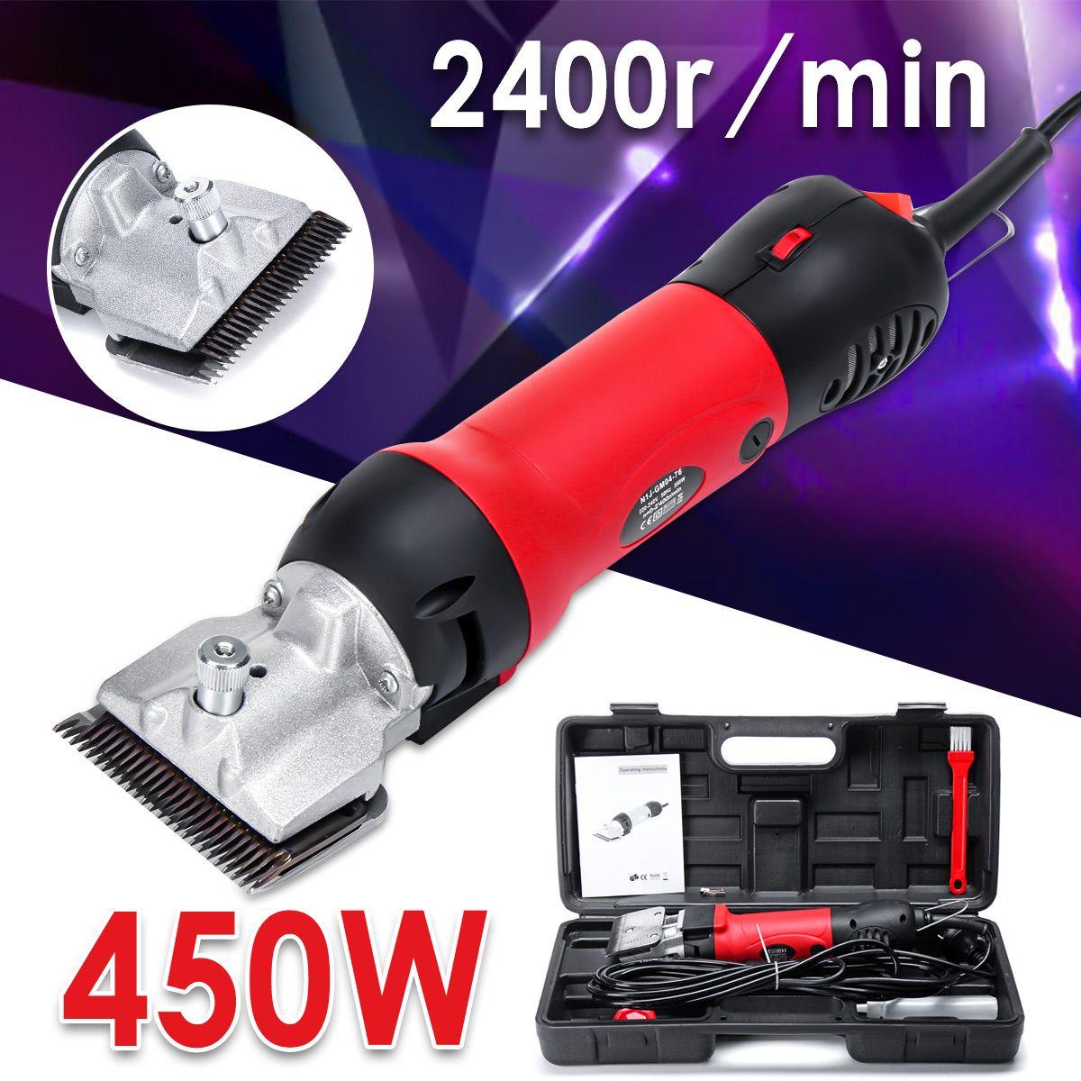 110-240V 450W 2400r/min Professional Electric Animal Horse Camel Dog Shear Clipper Pet Hair Trimmer Hair Shaver Shearing Machine