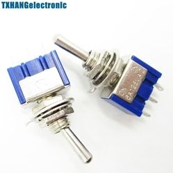 5PCS Mini 6A 125VAC SPDT MTS-102 3 Pin 2 Position On-on Toggle Switches Practic switch mts-102