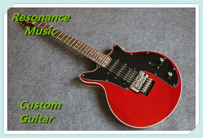 New Arrival Brian May Electric Guitar 24 Frets Floyd Tremolo Red Color & Can be Changed