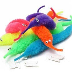 Free Shipping Magic Twisty Fuzzy Worm Wiggle Moving Sea Horse Kids close-up street comedy Magic Tricks Toys wholesale no packdge