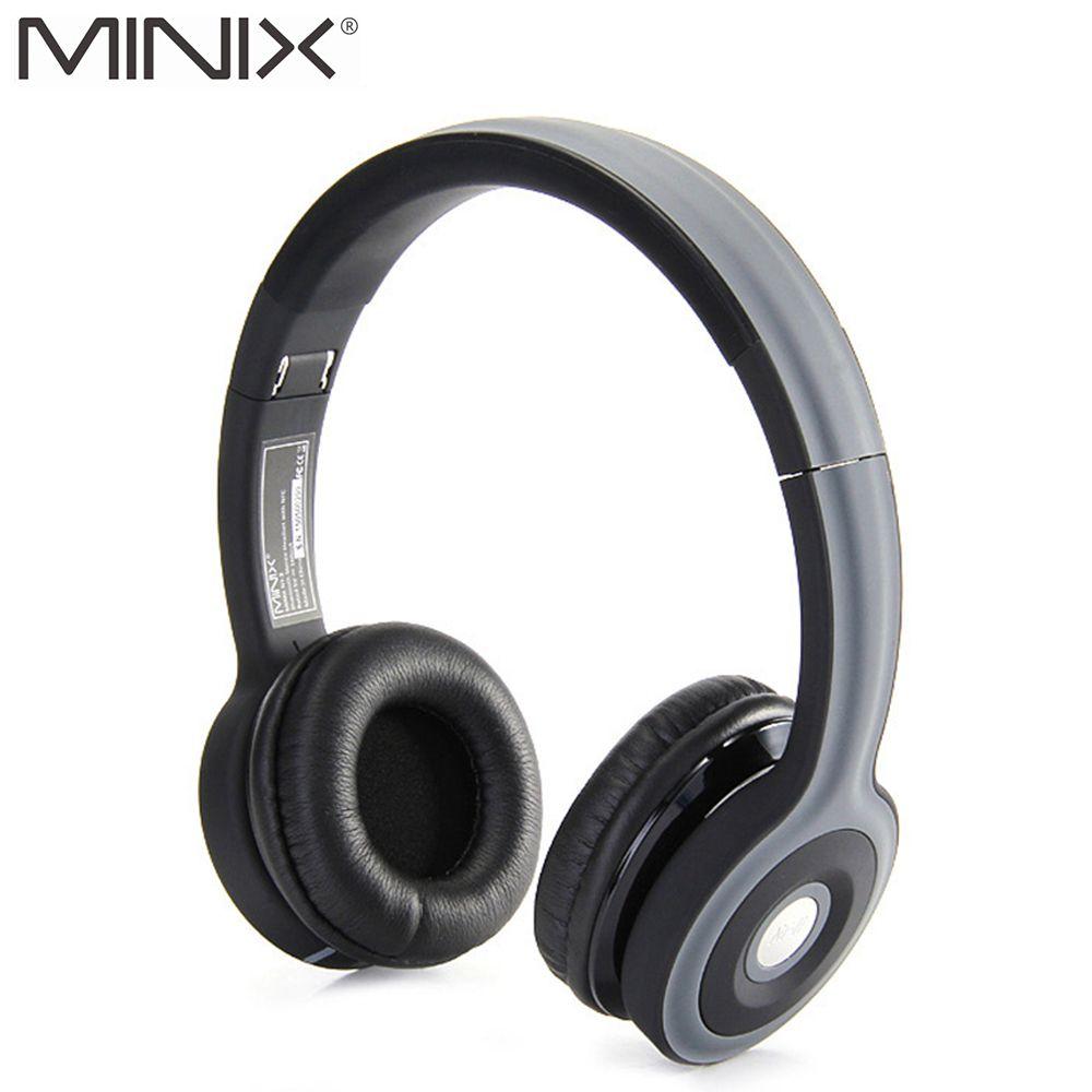 MINIX NT-II NFC Wireless Bluetooth Stereo Headphone Foldable Sports Bluetooth Headset Build-in Mic Earphones for iPhone Xiaomi