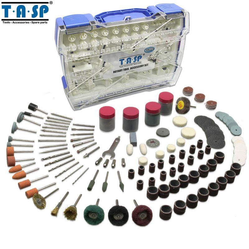 TASP Rotary Tool <font><b>Accessories</b></font> Kit Mini Drill Bit Set 268PC for Polishing Cutting Abrasive Tools