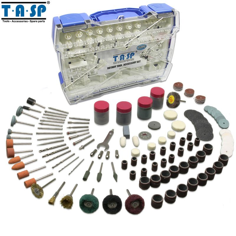 TASP Rotary Tool Accessories Kit Mini Drill Bit Set 268PC for Polishing Cutting Abrasive Tools