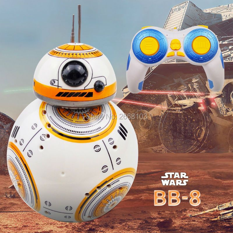 Fast delivery Upgrade Model Star Wars RC BB-8 Droid Robot BB8 Ball Intelligent Robot Kid Toy Gift With Sound 2.4G Remote Control
