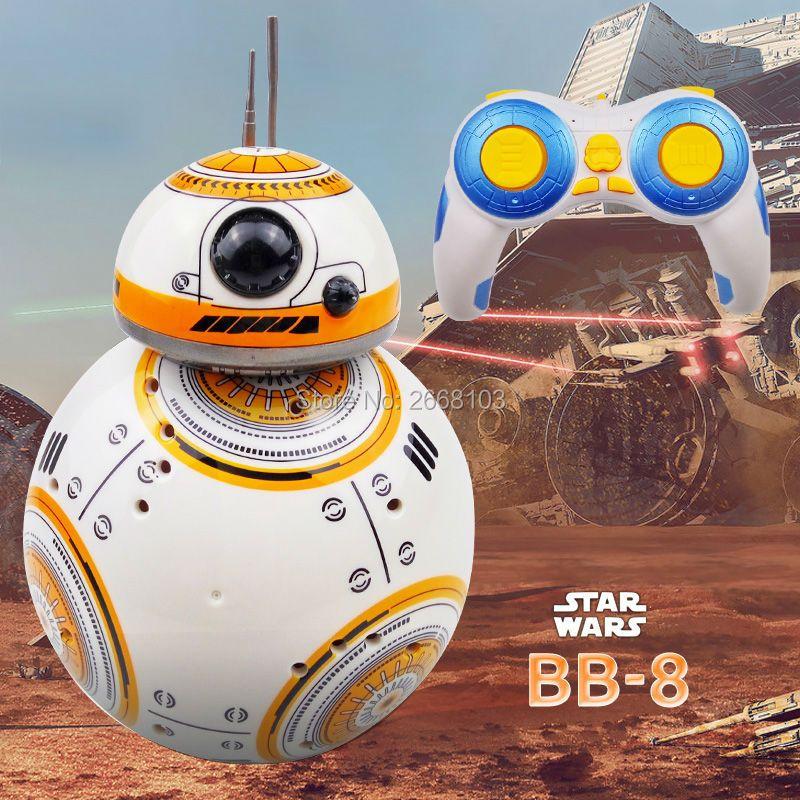 Livraison rapide Mise À Niveau Modèle Star Wars RC BB-8 Droid Robot BB8 balle Intelligente Robot Kid Jouet Cadeau Avec Son 2.4G Télécommande