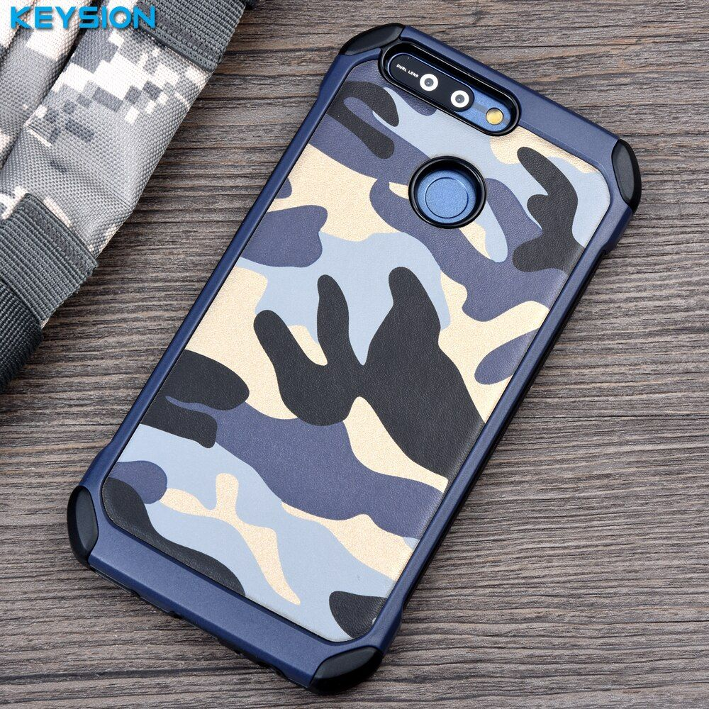 Keysion Phone Case for Huawei Honor V9 / Honor 8 Pro Army Camo Camouflage Pattern PC+TPU 2 in1 Anti-knock Protective Back Cover