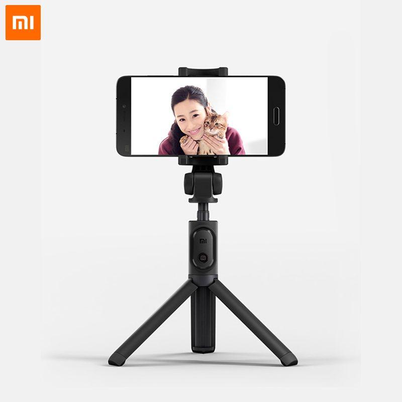 Selfiestick Original de bâton de Selfie de trépied pliable de Xiao mi mi avec le bâton de Selfie d'obturateur sans fil pour Android et IOS