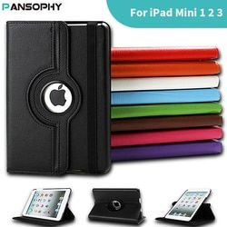 360 Degree Rotating Stand Case For iPad Mini 1 2 3 Case PU Leather Smart Flip Cover For Funda iPad Mini Case Cover Sleep/Wake