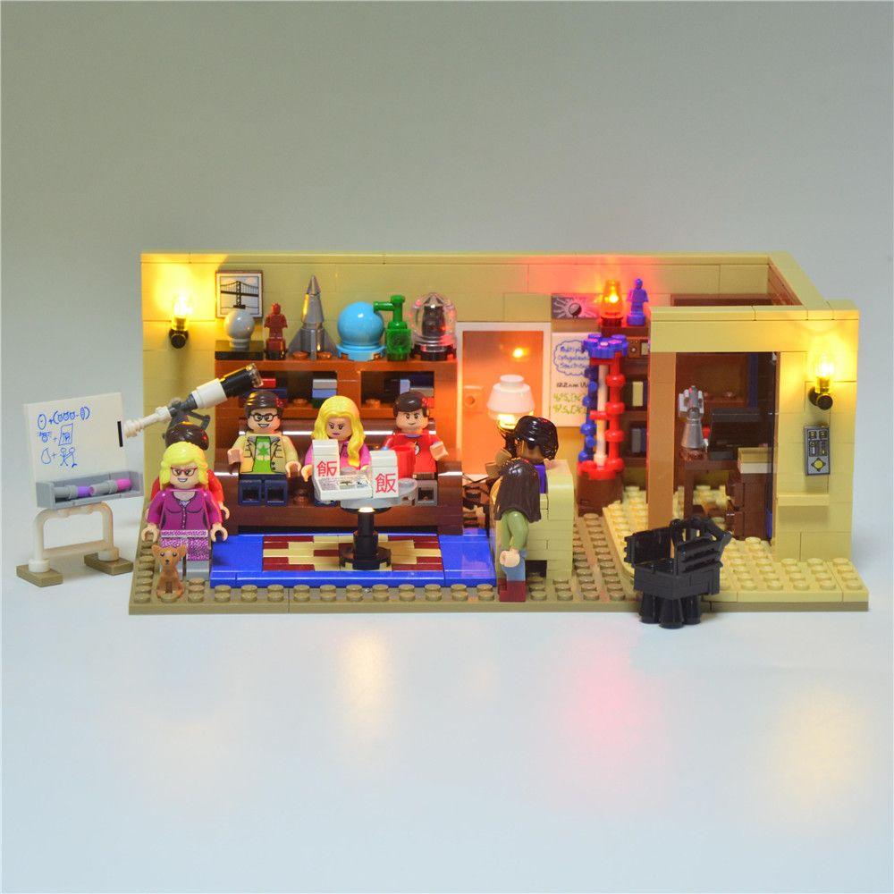 JOIE MAGS Led Blocs De Construction Éclairer Kit Pour Big Bang Theory Idée Série Compatible Avec Lego 21302 16024 Hors modèle