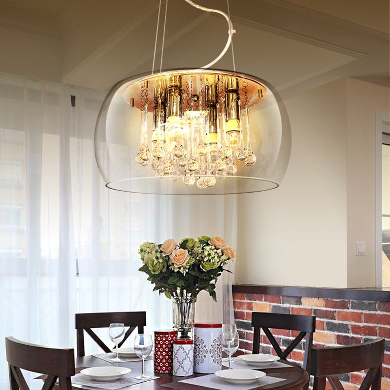American living room restaurant lighting creative arts personality French pastoral country bedroom European crystal chandelier