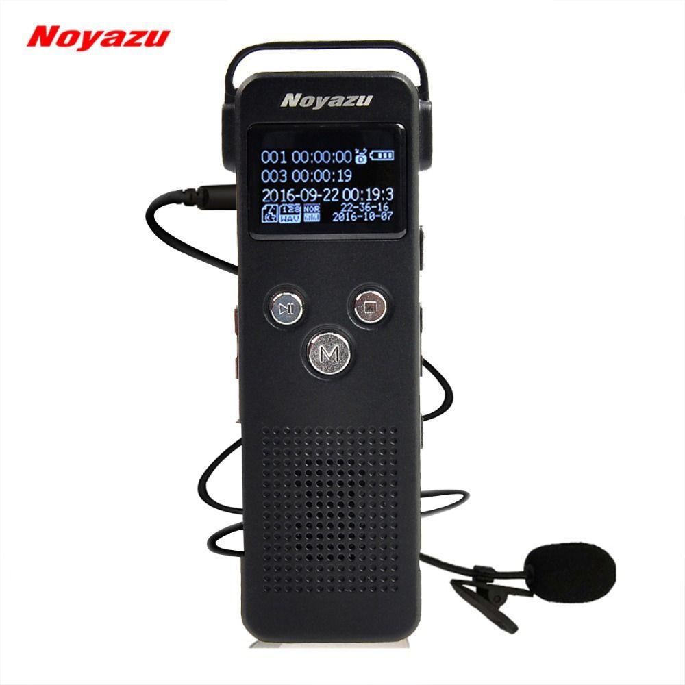 NOYAZU A20 16g Professionnel Bruit Réduction Sound Recorder Avec Enregistrement Téléphonique Dictaphone Enregistreur Vocal Activé Cadeau