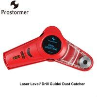PROSTORMER Multi-function Drill Guide Line Laser Square Angle Laser Level Professional Drilling Helper Dust Catcher