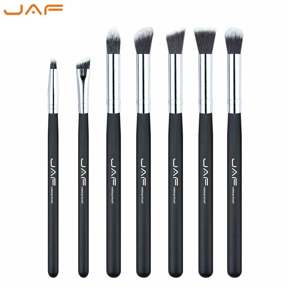 Retail JAF 7-piece Makeup Eye Brushes Set Brushes Make Up Shader Blending Brush for Eye Shadow Makeup Accessory JE07ST