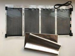 Новая бесплатная доставка 50 см * 100 (0,5 м * 1 м) Дальний инфракрасный Электрический пол с подогревом плёнки с кабелем 1,5 м 220VAC 110 Вт