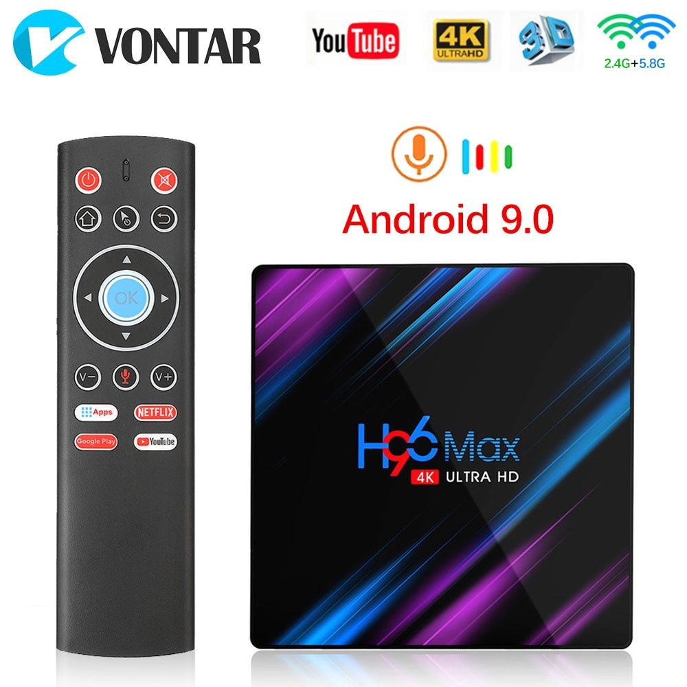 Android 9.0 TV Box Rockchip RK3318 H96 MAX 4GB 64GB 32GB USB3.0 1080P H.265 4K 60fps Google Player Store Netflix 2GB 16GB H96MAX