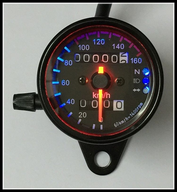 motorcycle odometer moto LED 12V Universal type motorcycle with the signal light Motorcycle Speedometer