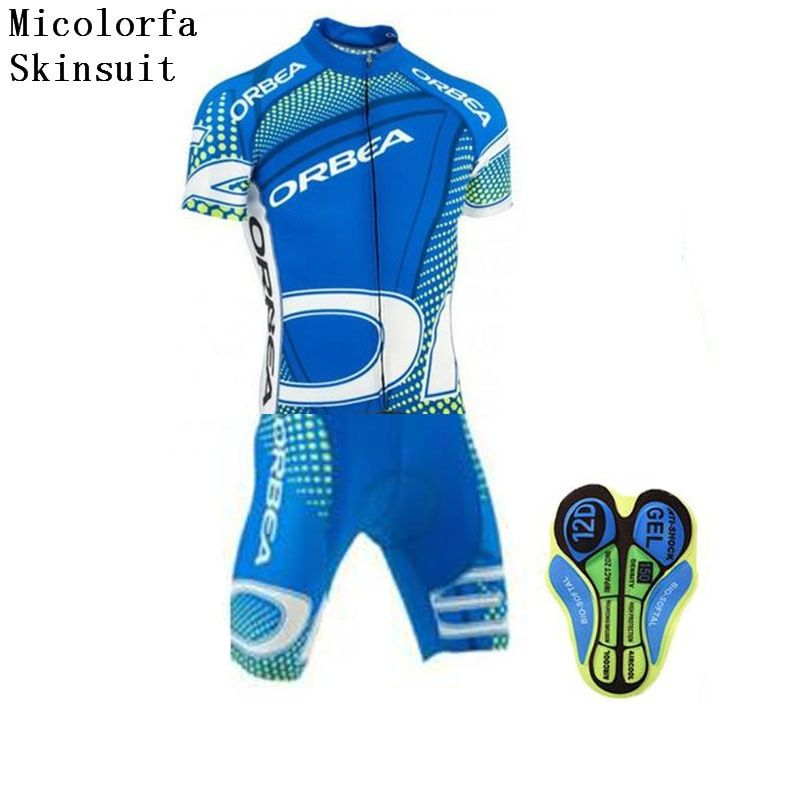 2018 New ORBEA Cycling Skinsuit Men MTB Cycling Clothing Maillot Ciclismo Jumpsuit Bike Bicicleta Sportswear Cycling Jersey