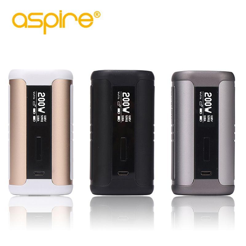 E-cigarette Aspire Speeder 200W Box Mod <font><b>Electronic</b></font> Cigarette Vape Mod Fit Athos Tank Without 18650 Battery e cigarettes mod