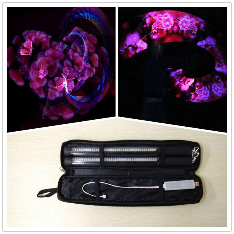Precio al por mayor 2*31 cm fuerte calidad LED nunchakus colorido LED píxeles POI para la etapa de rendimiento Dancing mostrar