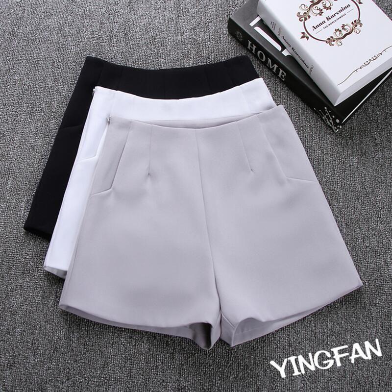 2018 New hot Summer Mode Nouveau Femmes Shorts Jupes Haute taille Casual Costume Shorts Noir Blanc Femmes Pantalon Court Dames Shorts