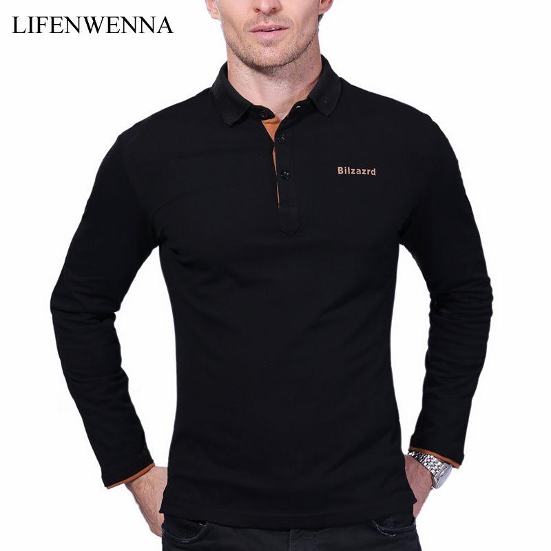 Lässige Poloshirt Männer Mode Brief Druck Langhülse männer Polos Neue Ankunft Mode Marke Polo Shirts Mann Hot-verkauf Dünne Polos
