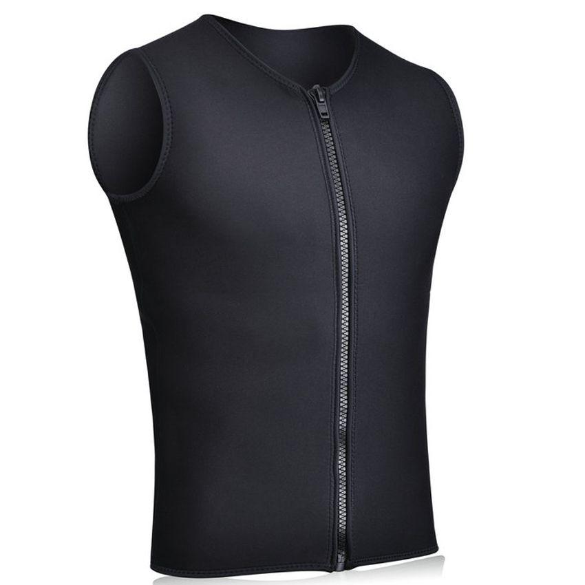Realon Combinaisons Gilet Mens 3mm Néoprène chemise haute Sans Manches Avant Zipper Sport XSPAN pour Plongée sous-marine Surf Natation Plongée En Apnée