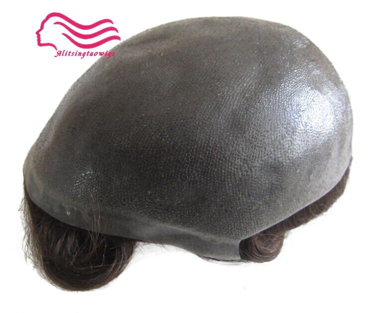 Durable Thin skin 12-14 , men toupee 8X10